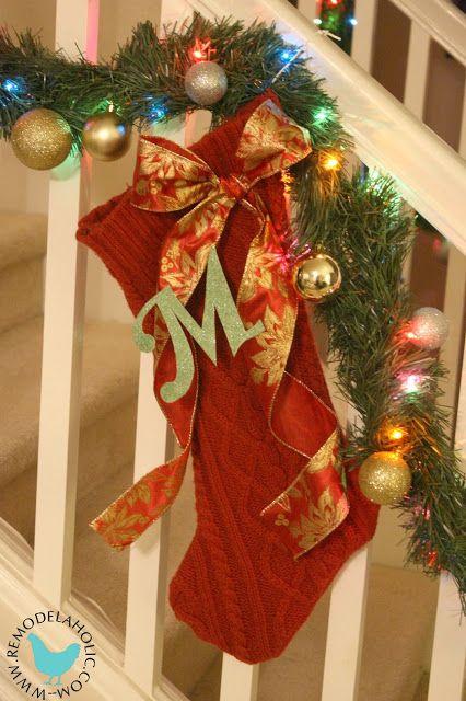Remodelaholic | Knock Your Socks Off!; EASY Homemade Christmas Stockings