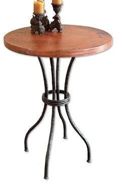 """Woodland 40"""" Counter Table by Mathews & Co. - eclectic - Bar Tables - Milwaukee - Timeless Wrought Iron"""