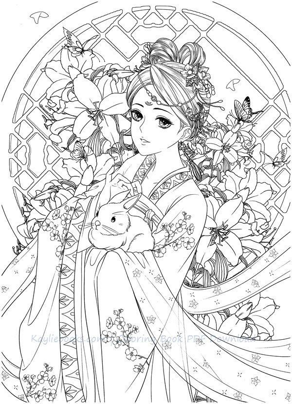 Download Dadacat Chinese Portrait Coloring Book Chibi Coloring Pages Coloring Books Coloring Book Art