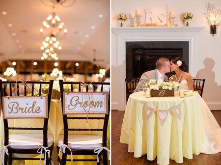 Idee deco table mariée