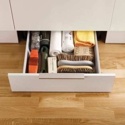 Plint Drawer | Kitchen Drawer Storage | Howdens Joinery Storage for baking trays etc