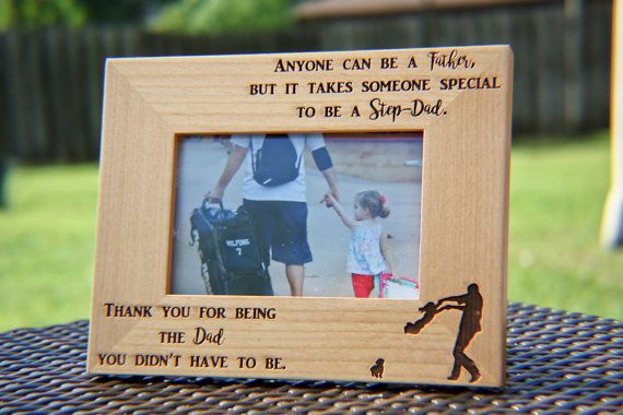 Stepdad Gift, Stepdad Picture Frame, Stepfather Gift, Stepfather of the Bride, #1 Dad, $19.99 + s&h, Engraved Picture Frame, Engraved Happyism on Etsy