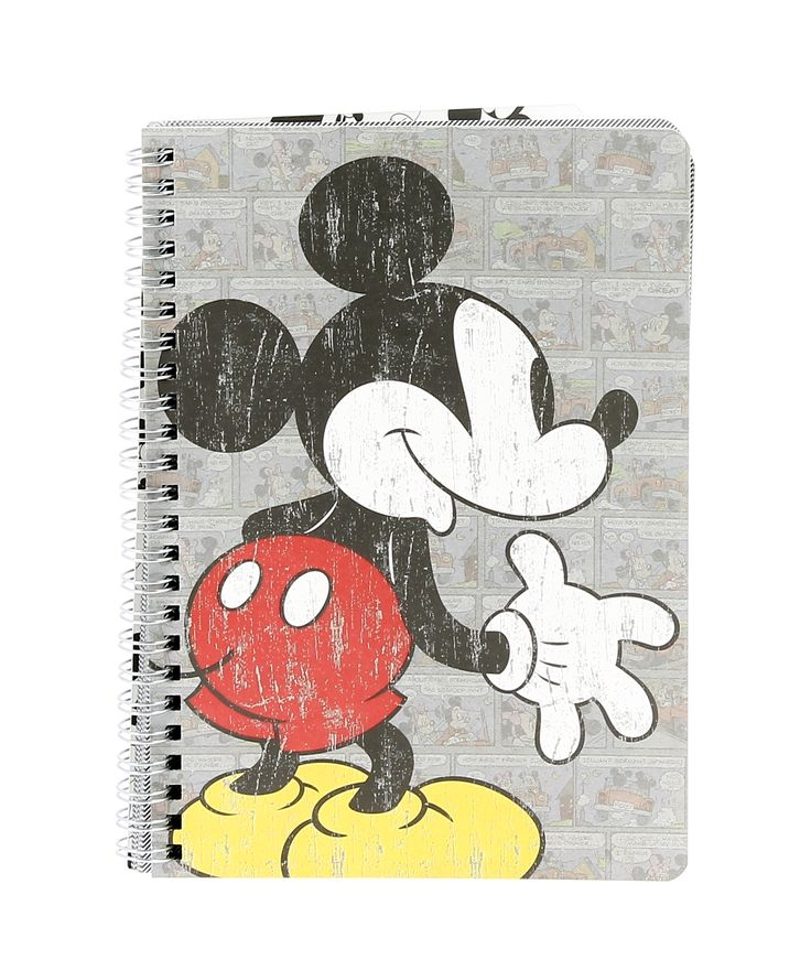 This extremely loveable Mickey Mouse A5 Notebook is a college or work essential! The notebook features a classic retro-style kraft card cover, metal wiro and includes 80 sheets of quality ruled paper. Fans of all generations will need one of these for their note-taking!