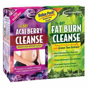 Applied Nutrition 14-Day Acai Berry Cleanse + 14-Day Fat Burn Cleanse, Value Pack, 56 tablets per bo