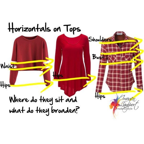 The effects of horizontal lines and how to choose clothes to flatter