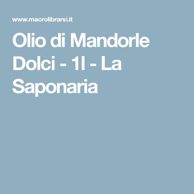 Olio di Mandorle Dolci - 1l  - La Saponaria