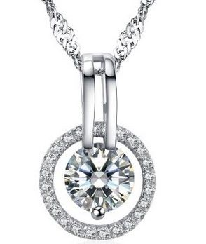 Arieanna S925 Sterling Silver Guardian Angel Swarovski Element Diamond Halo…