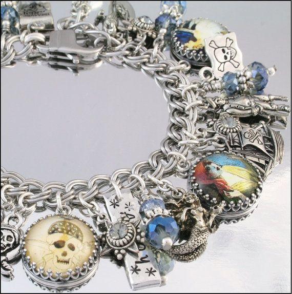 Pirate+Jewelry+Pirate+Charm+Bracelet+Pirate+by+BlackberryDesigns,+$123.00