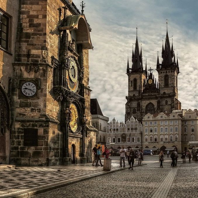 Old Town Square, Prague, Czech Republic  photo via katie