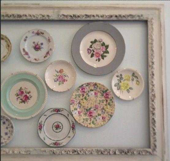 displaying vintage plates