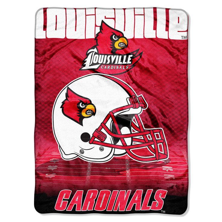 """Louisville College """"""""Overtime"""""""" 60x80 Micro Raschel Throw"""