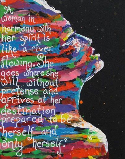 A woman in harmony with her spirit