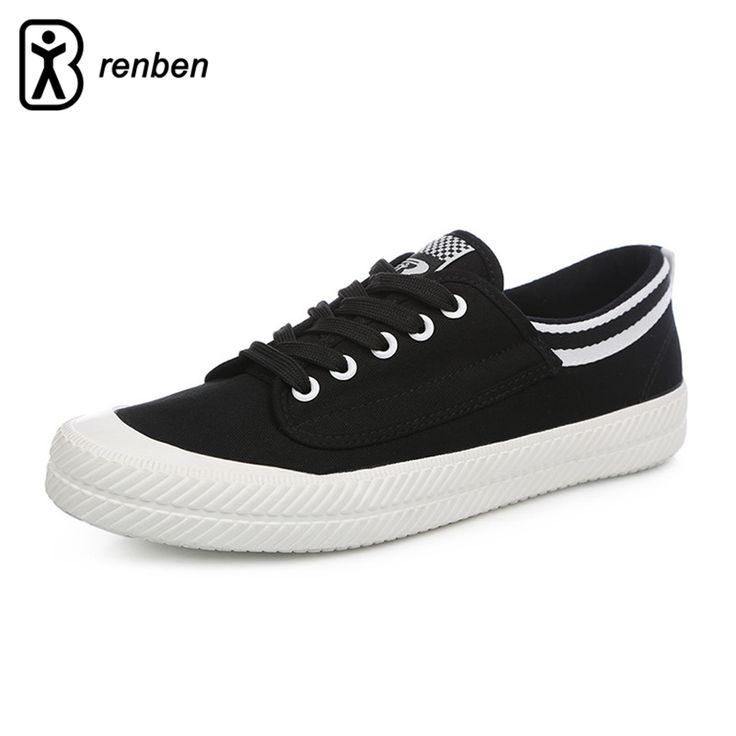 ==> [Free Shipping] Buy Best RenBen Flats Canvas Casual Shoes Men Fashion Stripe Loafers Male Shoes Man Breathable Durable Lace-up Shoes zapatos hombre Online with LOWEST Price | 32817801032