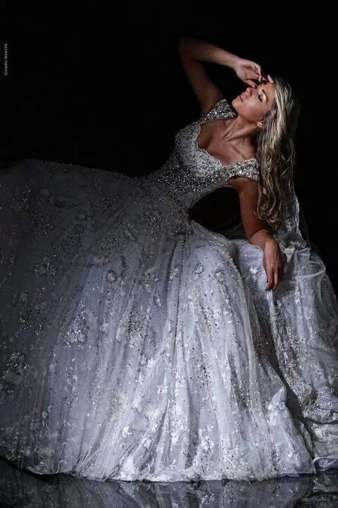 Rami Salamoun. stunning detail on this white wedding dress