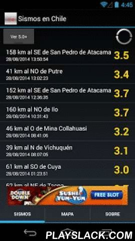 Sismos En Chile  Android App - playslack.com , This application shows seismic events occurred in Chile and surrounding areas.The application list seisms with magnitude mayor or equal to 2.0.This application is for reference and does not pretend to be an early alert system for future earthquakes.The shown information correspond to official reports generated by the National Seismologic Service at the University of ChileThe time between event publication rely on the time that takes to generate…
