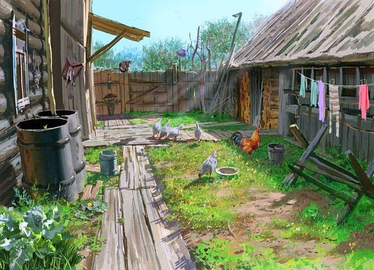 двор деревенский фото