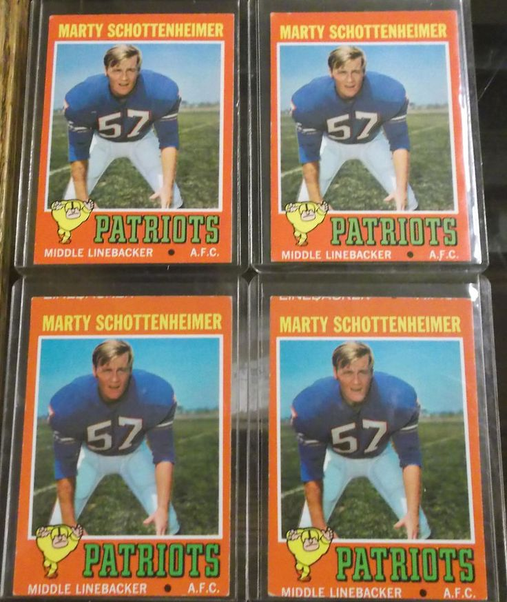 Lot of 4 1971 Topps Football Marty Schottenheimer Cards VG-EX