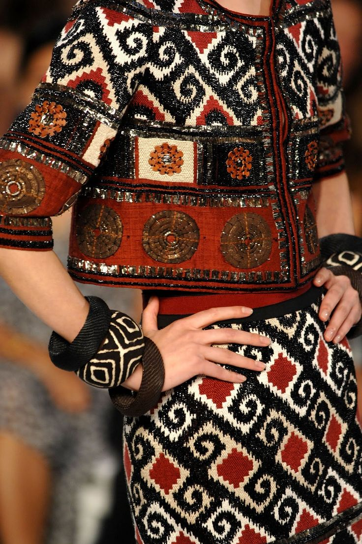 Suzani is made into a skirt and jacket, love Samarkand Tribal pattern