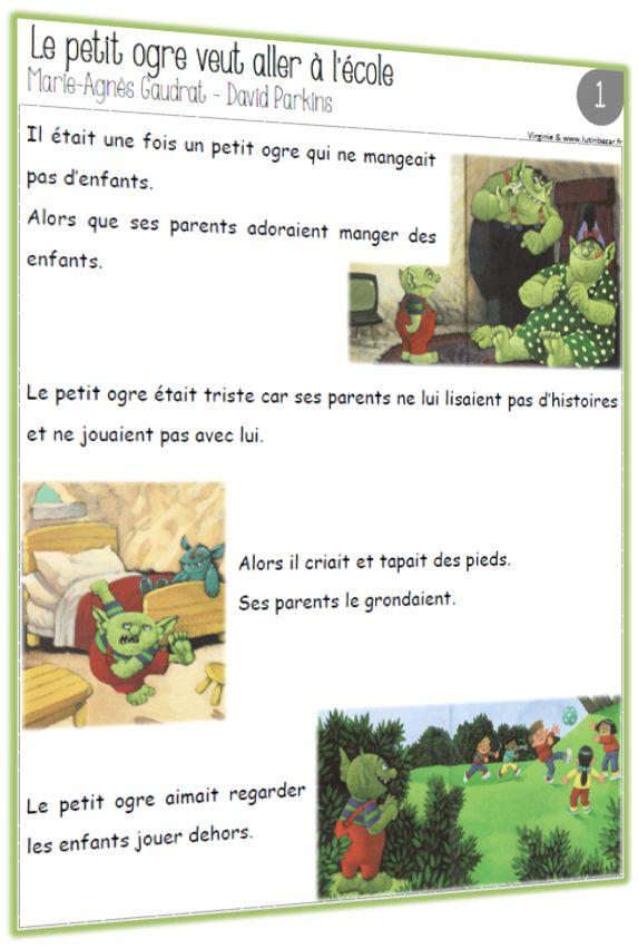 TAPUSCRIT et LECONS: Le petit ogre veut aller à l'école (CE1)