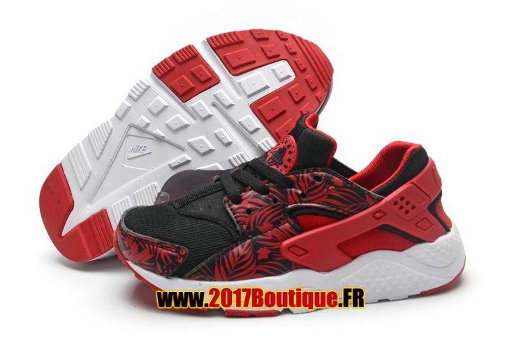 Nike Huarache Run (PS) Chaussure Nike Sportswear Pas Cher Pour Enfant Noir / Rouge