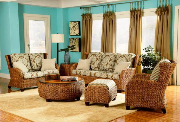 Clarissa Rattan 5 Piece Living Room Set By Designer Wicker Cz