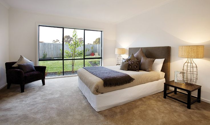 MegaHomes Bedroom design with loverly linen and pillows #australia #melbourne #sydney #brisbane #bedroom #pillows #beds www.megahomes.com.au