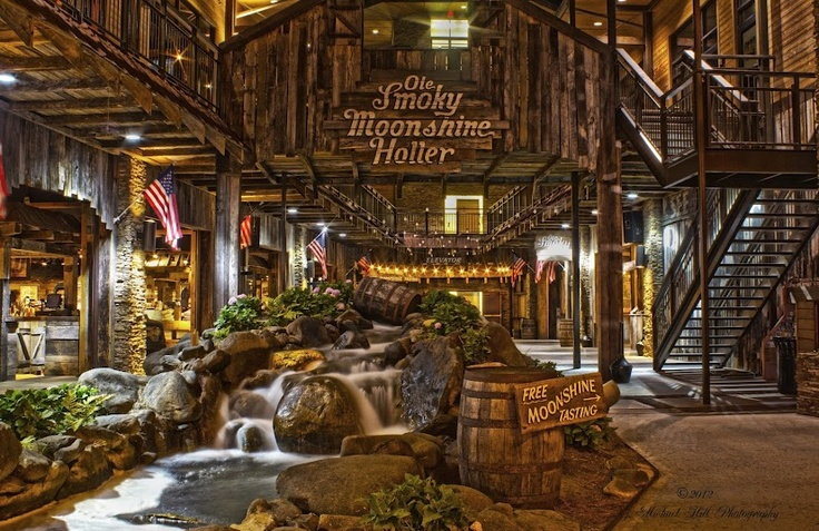Ole Smoky Moonshine opened up in 2010 in Gatlinburg, Tn. A recent change to state laws allowing distilled spirits to be bought and sold in Tennessee opened the doors for the white lightning purists and allowed Ole Smoky to become the first legal moonshine in Tennessee.