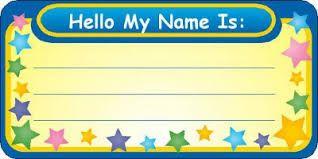 Resultado de imagen para name tags templates