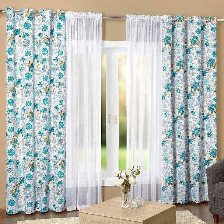 esta maravilhosa cortina essencialle azul turquesa