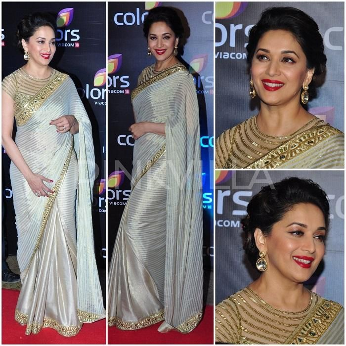 Hit or Flop! Catch the Evergreen Beauty Madhuri Dixit in Arpita Mehta's Saree :http://www.gagbrag.com/hit-or-flop-catch-the-evergreen-beauty-madhuri-dixit-in-arpita-mehtas-saree/