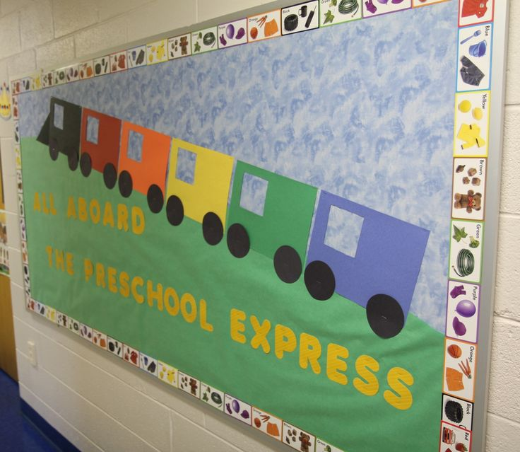 toddler bullentin boards | Preschool Train theme bulletin board