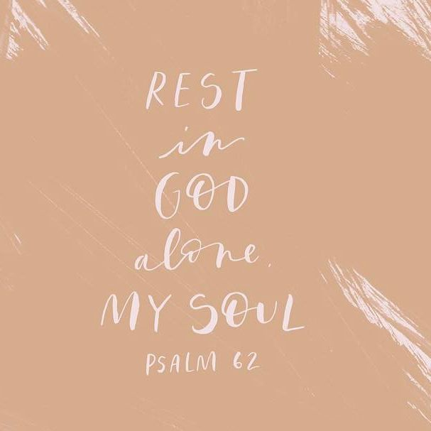 My soul, be at rest in God alone, from whom comes my hope. God alone is my rock and my salvation, my fortress; I shall not fall. // Psalm 62:6-7 __ Get your free #weeklywallpaper with handlettering and design by @beaheartdesign with the link in our profile. __ #projectblessed #BISsisterhood