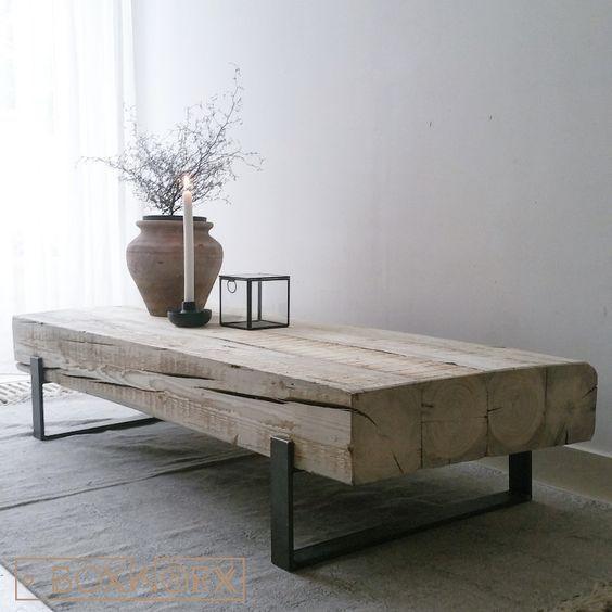 Beautiful rustic industrial table