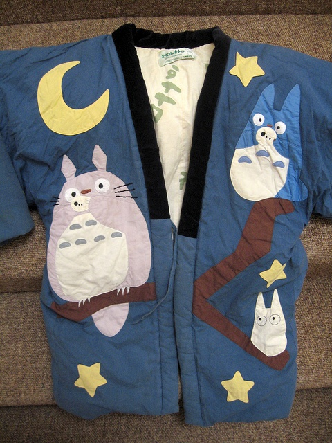 Totoro quilted kimono jacket for child // by Padded Studio Ghibli Clothing