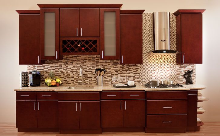 Villa Cherry Kitchen 215 745 7900 Modern Style And High Quality All Wood Con Cherry Cabinets Kitchen Cherry Wood Kitchen Cabinets Kitchen Cabinet Design