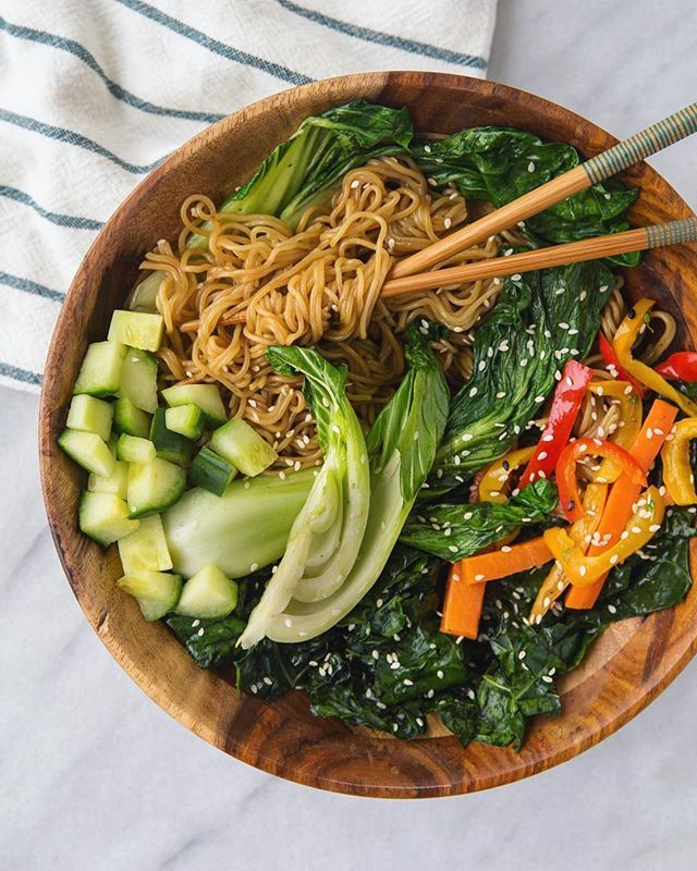 Brown Rice Ramen By Lotusfoods Grilled Bok Choy Massaged Lacinato Kale W Vegetarian Recipes Dinner Healthy Lotus Foods Rice Ramen Recipe Rice Ramen Recipe