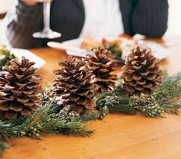 ... Pine Cones Decorating. Astounding Gifts With Wrap Using Metallic Tinsel  Pea
