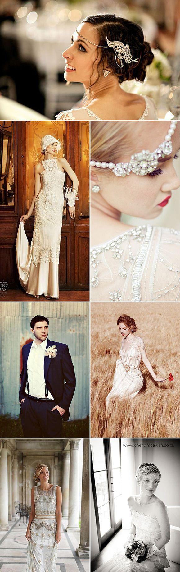 Look años 20 para bodas vintage