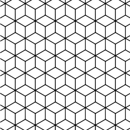 Geometric Tessellation with Rhombus Pattern coloring page