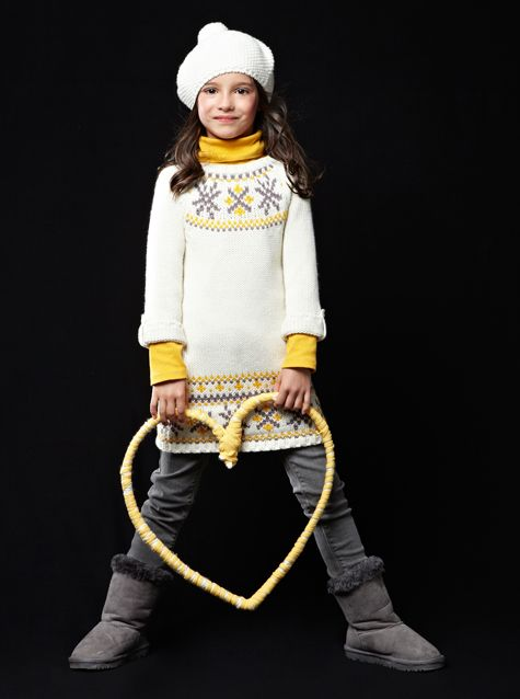 #Robe en #tricot jacquard - Collection automne hiver 2013 - www.vertbaudet.fr