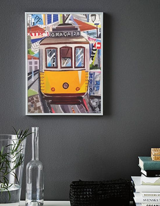NEW POSTERS SOON! -  TRAM 28 -  30 x 40cm /  from the original collage illustration  by ©philippe patricio