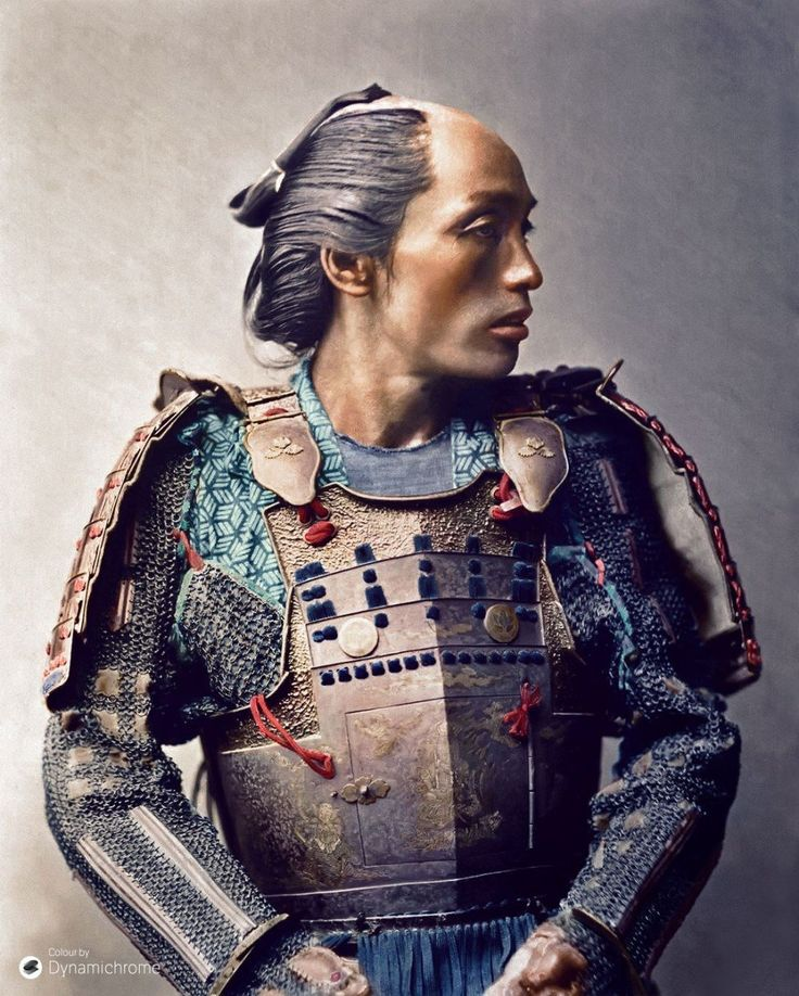 Samurai, 1881  30 Iconic Black & White Old Pictures That Look Amazing In Colour • Page 5 of 6 • BoredBug