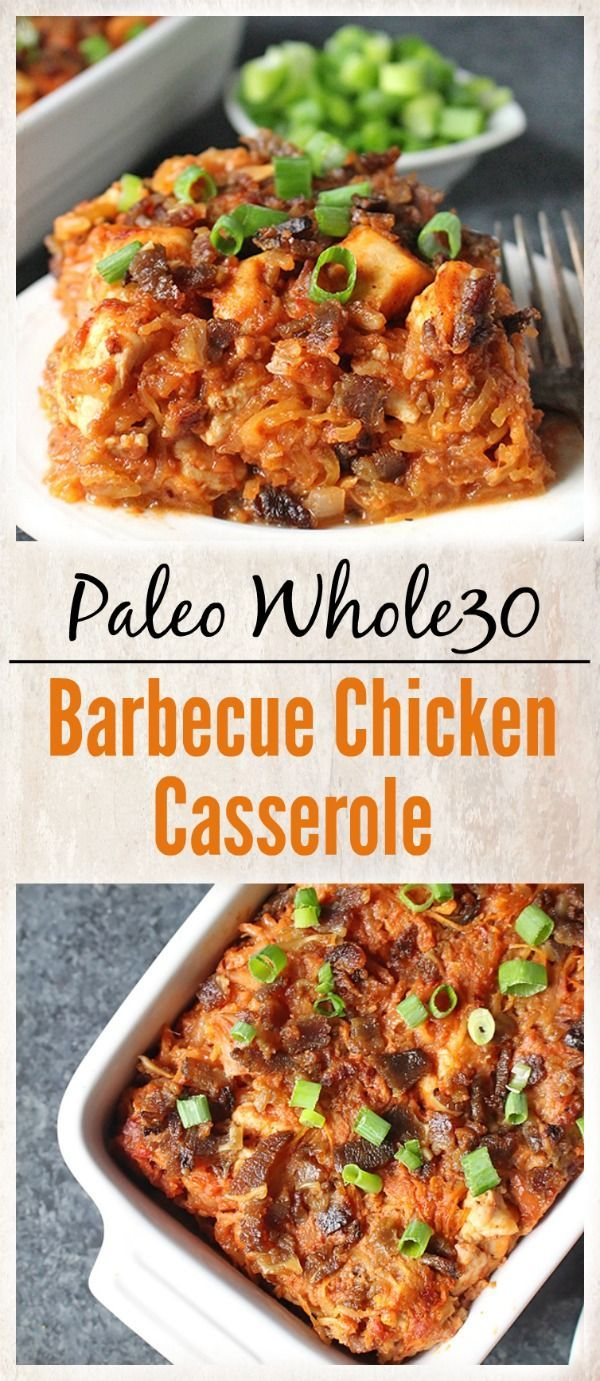 Paleo Barbecue Chicken Casserole- healthy, delicious, and pure comfort food! Whole30, gluten free, dairy free and so flavorful!