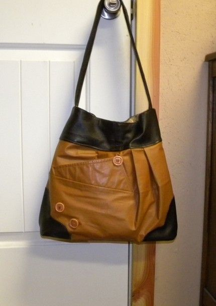 Recycle YOUR OWN Leather Jacket into a Beautiful by OregonLynne, $45.00- I want to do this with Tia's jacket...