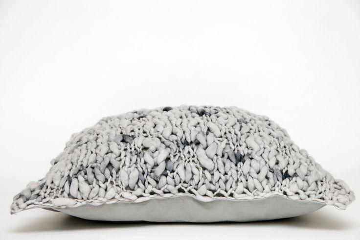Flame Cushion Grey