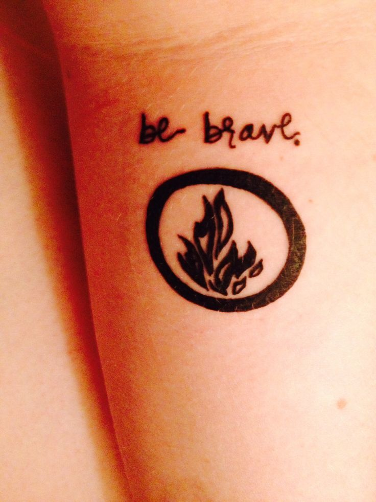 "divergent tattoo - I was thinking of getting something very similar with the Dauntless symbol with ""be brave"" LOVE this design!"