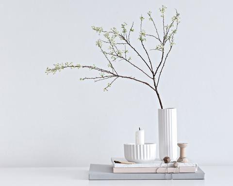 Lyngby stagen 8,5 cm hvid porcelæn