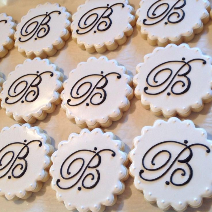 240 Best Images About Monogram Cookies (Letters & Message