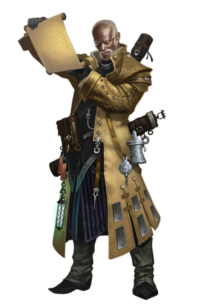 Pathfinder Iconic Investigator Quinn - Male Black Human - Pathfinder PFRPG DND D&D 3.5 5th ed d20 fantasy