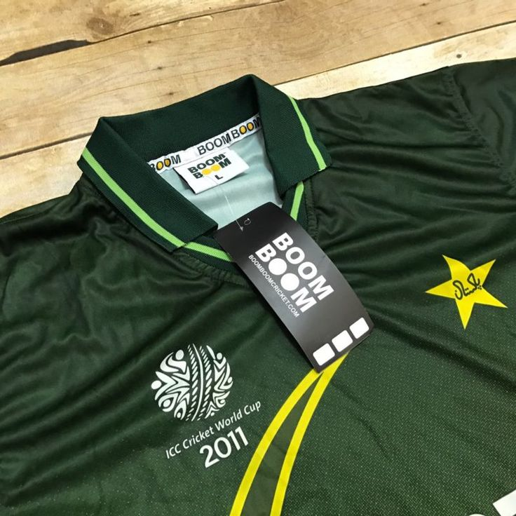 Nwt Boom Boom Pakistan 2011 Cricket World Cup Jersey Men'S Large Green Poly